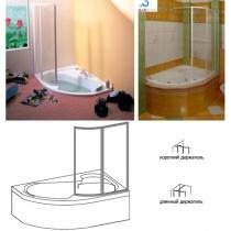 RAVAK VSK2 Rosa L 150 - Шторка для ванны, левая, 150 см VSK2-Rosa150-L