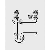 VIEGA Отводная арматура (сифон) для двойной мойки 329174