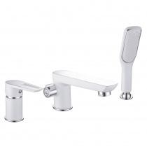 BRECLAV смеситель для ванны, врезной, на три отверстия, хром/белый 85245W
