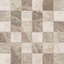 ABK CERAMICHE Fossil Mosaico Quadretti Mix Cream/Beige/Brown - Мозаика керамогранитная универсальная, наружная, 30х30 см FSN03061