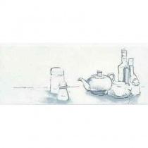 CERAMIKA KONSKIE Amsterdam Taste A Inserto - Декор керамический настенный, белый, 20x50 см 5903978224209