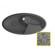 MARMORIN SILVANUS - Гранитная кухонная мойка, цвет серый, 1100х540х215 мм 500513003