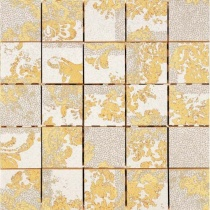 AVA LA FABBRICA Visia Mosaico Hermitage Charta Lucido - Мозаика керамическая настенная, бежевая, 25х25 см 071039