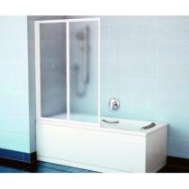 RAVAK VS2 105 - Шторка для ванны, 2-х элементная, 140х105 см VS2-105