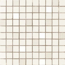 AVA LA FABBRICA Visia Mosaico Charta Lucido - Мозаика керамическая настенная, белая, 25х25 см 071066