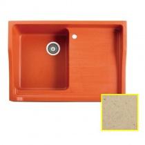 MARMORIN Rubid - Гранитная кухонная мойка, цвет серо-бежевый, 890x615x270 мм 230114011