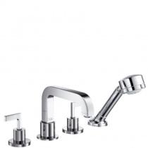 AXOR Citterio - Смеситель для ванны, на 4 отверстия, монтаж на плитку, с рычаговыми рукоятками, 39454000