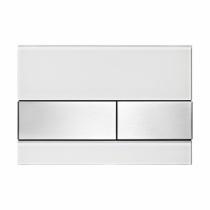 Клавиша смыва White glass - нержавеющая сталь TECE TECEsquare 9240801