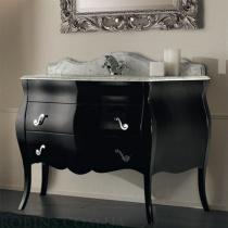 MOBILI DI CASTELLO Lyra - Шкаф напольный c умывальником, глянцевый черный 9061-LL002