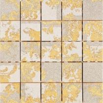 AVA LA FABBRICA Visia Mosaico Hermitage Sahara Lucido - Мозаика керамическая настенная, бежевая, 25х25 см 071045