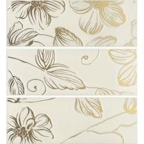 DOMINO Anya Decor Gold Cream EAY74 - Декор керамический настенный, бежевый, 20х60 см 525231