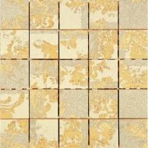 AVA LA FABBRICA Visia Mosaico Hermitage Lime Lucido - Мозаика керамическая настенная, бежевая, 25х25 см 071051