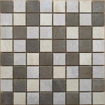 ZEUS CERAMICA Le Gemme Mosaico Mix MQAXL1 - Мозаика керамогранитная универсальная, серая, 32,5х32,5 см 227410