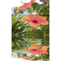 CERROL Imperia Flora Komplet 4 - Декоративная плитка настенная, цветы, 20х50 см 508600