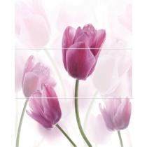 CERROL Porto Tulipan Komplet Centro - Декоративная плитка настенная, тюльпаны, 25х60 см 507351