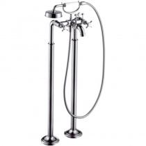 AXOR Montreux - Смеситель для ванны, с двумя рукоятками, напольный, шлифованый никель 16547820