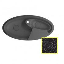MARMORIN SILVANUS - Гранитная кухонная мойка, цвет черный металлик, 1100х540х215 мм 500513012
