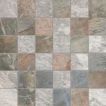 ABK CERAMICHE Fossil Mosaico Quadretti Mix Light Grey/Blue - Мозаика керамогранитная универсальная, наружная, 30х30 см FSN03211