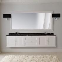 MOBILI DI CASTELLO Комплект Poseidone - Шкаф подвесной c умывальником и зеркалом, матовый белый 9150S-LOB