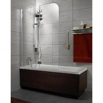 RADAWAY Torrenta PND L - Двухэлементная шторка для ванной левая, стекло графитовое, 121х150 см 201203-105NL
