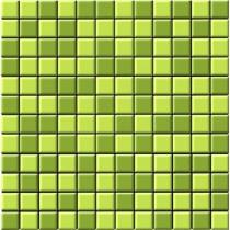 CERROL Leaves Mozaika Szklana - Мозаика керамическая настенная, зелёная, 30х30 см 500553