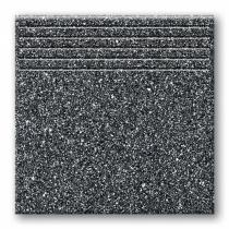 TUBADZIN Tartan 5 - Ступень керамогранитная, черная, 33,3x33,3 см  5907602125825