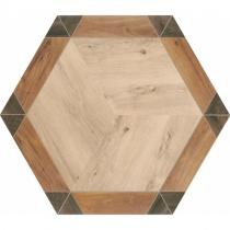 REALONDA Florencia - Керамогранитная плитка универсальная, коричневая, 33х28,5 см 514314