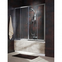 RADAWAY VESTA DWD - Душевая шторка с двустворчатой раздвижной дверью, стекло прозрачное, профиль хром, 140 см  203140-01