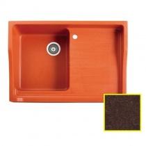 MARMORIN Rubid - Гранитная кухонная мойка, цвет шоколад, 890x615x270 мм 230114017