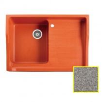 MARMORIN Rubid - Гранитная кухонная мойка, цвет стальной металлик, 890x615x270 мм 230114010