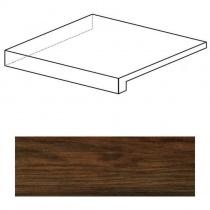 ATLAS CONCORDE Etic Palissandro Scalino Angolare SX - Ступень керамогранитная, коричневая, 22,5x22,5 см ANCO