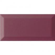 MONOPOLE Monocolor 10x20 Bisel Malva Brillo Bisel - Керамическая плитка настенная, вишневая, 10х20 см 221510