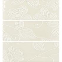 DOMINO Anya Decor Flower Cream EAY22 - Декор керамический настенный, бежевый, 20х60 см 525237