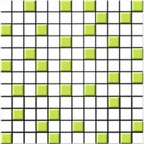 CERROL Leaves Mozaika - Мозаика керамическая настенная, белая, 30х30 см 500552