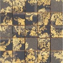 AVA LA FABBRICA Visia Mosaico Hermitage Ebano Lucido - Мозаика керамическая настенная, чёрная, 25х25 см 071063