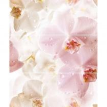 CERROL Porto Flower Komplet - Декоративная плитка настенная, цветы, 25х60 см 510640