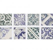 REALONDA Sintra - Керамогранитная плитка универсальная, синяя, 16x16 см 363189