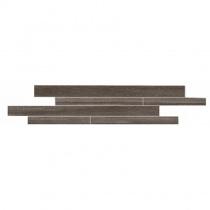 LA FABBRICA 5th Avenue Muretto Stripes Chocolate - Мозаика керамогранитная универсальная, коричневая, 15x60 см L768