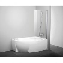 RAVAK Шторка для ванны CVSK1 Rosa 140/150 см L, сатин+Transparent 7QLM0U00Y1