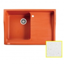 MARMORIN Rubid - Гранитная кухонная мойка, цвет алибастр, 890x615x270 мм 230114016