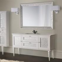 MOBILI DI CASTELLO Комплект Eros - Шкаф напольный c умывальником и зеркалом, белый 9200-LLBE