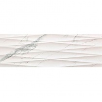 SUPERGRES Purity of Marble PSWS Statuario Strut. Net - Керамическая плитка настенная, белая, 30,5х91,5 см 526464