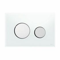Клавиша смыва White glass - хром глянцевый TECE TECEloop 9240660