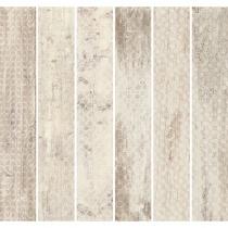 TAGINA CERAMICHE Rivamancina Naturale 87 Decori Mix - Керамогранитная плитка универсальная, бежевая, 20х120 см  340515