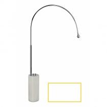 GESSI GOCCIA - Отдельно стоящий смеситель с цветной подсветкой, белый, база из белого GRES 33712279