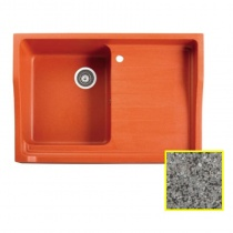 MARMORIN Rubid - Гранитная кухонная мойка, цвет серый, 890x615x270 мм 230114003