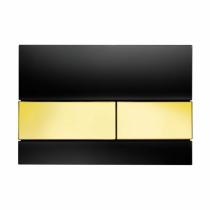 Клавиша смыва Black glass - золото TECE TECEsquare 9240808