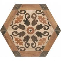 REALONDA Florencia - Декор керамогранитный универсальный, коричневый, 33х28,5 см 514316