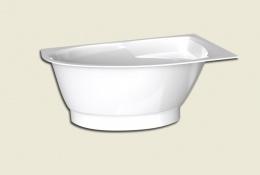 Ванна из литого камня PAA TRE 150x100 +нижняя панель, белая левосторонняя