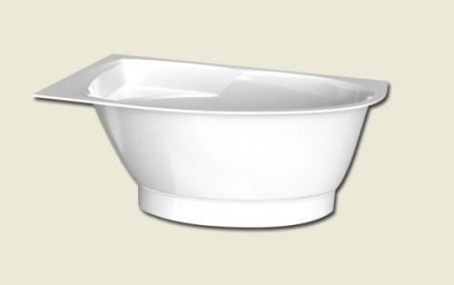 Ванна из литого камня PAA TRE 150x100 +нижняя панель, белая правосторонняя